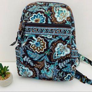 Vera Bradley Java Blue Quilted Backpack 2006